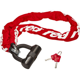 Red Cycling Products High Secure Chain Plus Łańcuch rowerowy z zamkiem, red